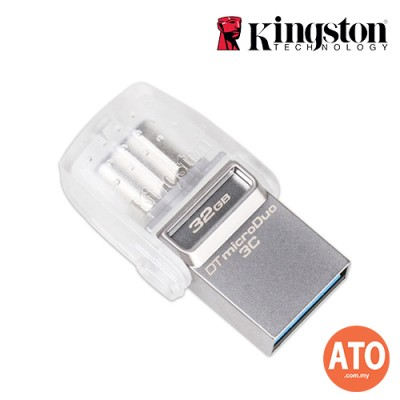 KIGNSTON DT MICRODUO 3C TYPE C USB3.1 (32GB)