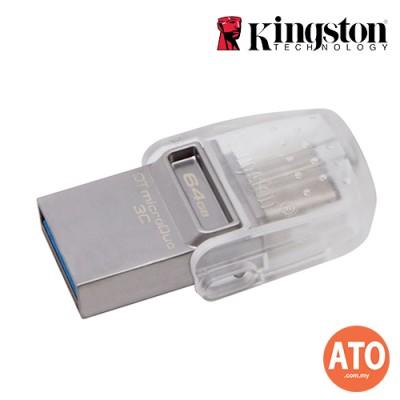 KIGNSTON DT MICRODUO 3C TYPE C USB3.1 (64GB)