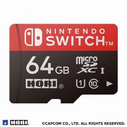 Hori Card Case (6 Card Slot) + Micro SD 64GB [Monster Hunter Rise - Airu]