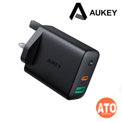 Aukey PA-D1 Focus Duo 30W Power Delivery Dual-Port PD Charger with Dynamic Detect