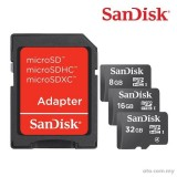 SanDisk SDSDQM Micro SDHC Memory Card +Adapter