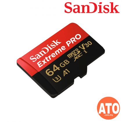 SanDisk Extreme Pro 64GB microSDXC UHS-II Memory Card 275MB/s with USB3.0 Reader